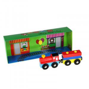 "Barbo Toys Ξύλινο παιχνίδι ""Το μικρό μου τρένο"" BT6405"