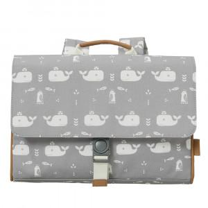Fresk: Τσάντα ταχυδρόμου πλάτης 34 x 25 x 8 εκ Whale dawn grey FR-FB960-26