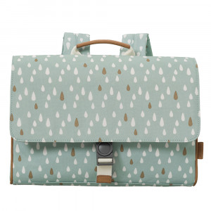 Fresk: Τσάντα ταχυδρόμου πλάτης 34 x 25 x 8 εκ Drops blue FR-FB960-84