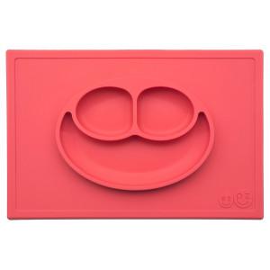 Ezpz Δίσκος και πιάτο σε ένα Happy mat in Coral HM-C1785U