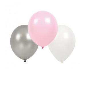 Jabadabado: Μπαλόνια Ρόζ-Άσπρο-Γκρί JB-B2000