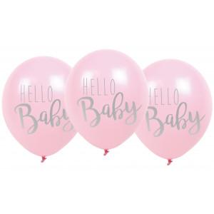 "Jabadabado: Μπαλόνια ""Hello Baby"" Ρόζ JB-B2009"