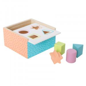 Jabadabado: Ξύλινο κουτί με σχήματα πολύχρωμο JB-W7149