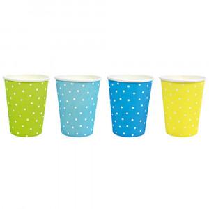 Jabadabado: Χάρτινα ποτήρια Μπλέ-Κίτρινο-Πράσινο JB-Z17119