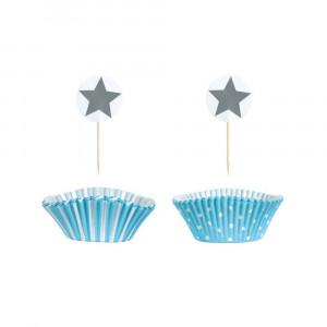 Jabadabado: Χάρτινες θήκες για Cupcake Γαλάζιο JB-Z17143
