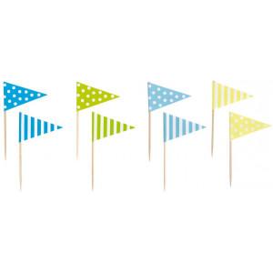 Jabadabado: Σημαιάκια οδοντογλυφίδες Πολύχρωμες JB-Z17145