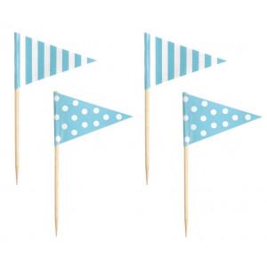 Jabadabado: Σημαιάκια οδοντογλυφίδες Γαλάζια JB-Z17147