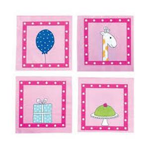 Jabadabado: Χαρτοπετσέτες Birthday pink JB-Z17182