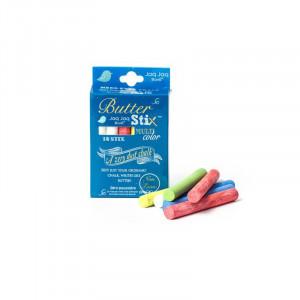 Jaq Jaq Bird: Κιμωλίες χρωματιστές Butterstix 12τεμ JJB-BS