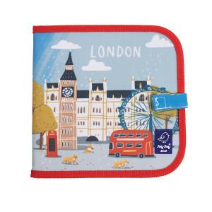 """Jaq Jaq Bird: Βιβλίο ζωγραφικής μαυροπίνακας με κιμωλίες - Πόλεις """"Λονδίνο"""" JJB-COW-LON"""