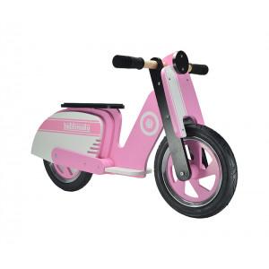 Kiddimoto: Ποδήλατο ισορροπίας Scooter Pink Stripe KM412