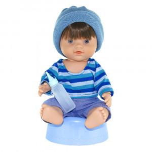 Magic baby κούκλα Μωρό με γιογιο Blue hat MB30005