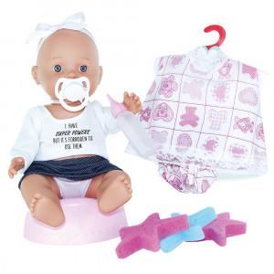 Magic baby κούκλα Μωρό με γιογιο, ρούχα και αξεσουάρ - Κορίτσι MB30008