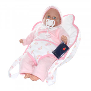"Magic baby κούκλα ""Lia en"" με μάρσιπο MB35004C"