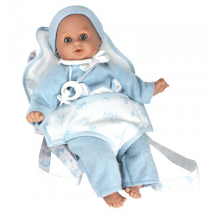 "Magic baby κούκλα ""Lucas"" με μάρσιπο MB35005B"