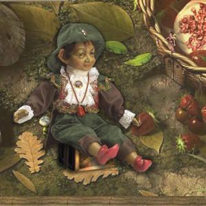 """Magic baby:Χειροποίητη κούκλα Ξωτικό """"Mush"""" - 38εκ MB40013"""