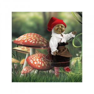 """Magic baby: Χειροποίητη κούκλα Ξωτικό """"Beansith"""" - 28εκ MB41028"""