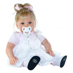 "Magic baby κούκλα που γελάει ""Susy Pink bow"" MB47017"