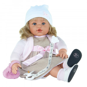 "Magic baby κούκλα που γελάει ""Susy White hat"" MB47018"