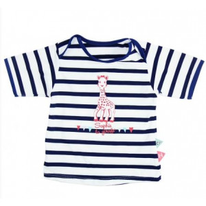 Mayoparasol Μπλούζα με UV προστασία κοντό μανίκι Sophie La girafe Mariniere 12 μηνών MP42015