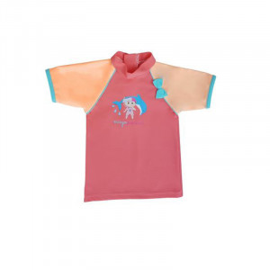 Mayoparasol Μπλούζα με UV προστασία κοντό μανίκι Peachy peach 18 μηνών MP43233