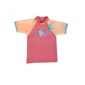 Mayoparasol Μπλούζα με UV προστασία κοντό μανίκι Peachy peach 24 μηνών MP43234