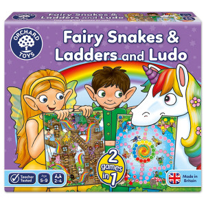 Orchard Toys Fairy Snakes & Ladders and Ludo Board Game ORCH059