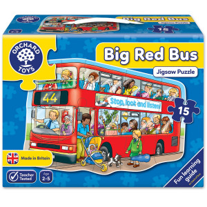 Orchard Toys Big Red Bus Jigsaw Puzzle ORCH249