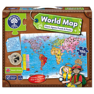 Orchard Toys World Map Puzzle & Poster ORCH280