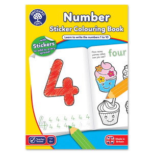 Orchard Toys Number Colouring Book ORCHCB03