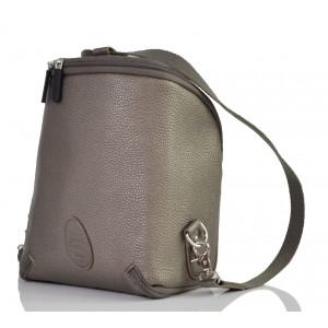 Pacapod: Vegan δέρμα τσάντα μικρή Freedom Pod - Gunmetal PL:0120