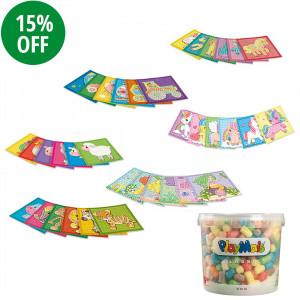 Playmais: Σετ δώρου Basic Κάδος 500τεμ. + Σετ 6 Mosaic εικόνες PLM-160606+PLM-160026