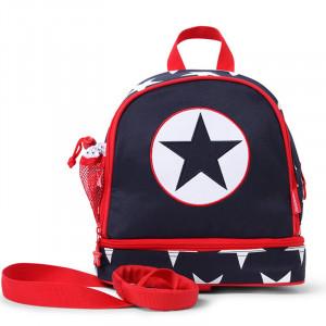 Penny Scallan: Τσάντα πλάτης Junior με λουρί ασφαλείας Navy Star PMRNAS
