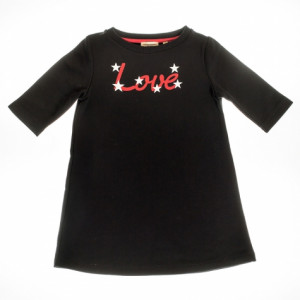 """Keen Organic: Girls """"Love"""" fleece dress PRG-1811"""