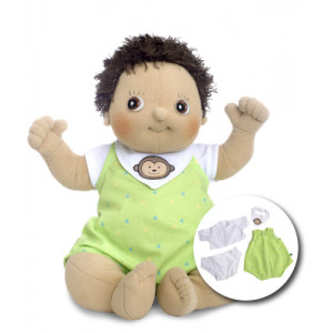 "Rubens Barn κούκλα Baby ""Max"" με δώρο 4τμχ. ρούχα RB120093"