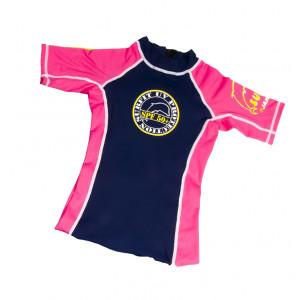 Jakabel Μπλούζα Quickdry κοντό μανίκι με UV 50+ προστασία ροζ/μπλε RPSP