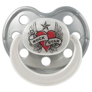 Rock Star Baby-Πιπίλα-Heart & Wings RSB900310