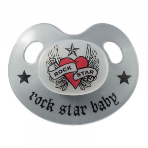 Rock Star Baby Πιπίλα Σιλικόνης Heart & wing RSB90241