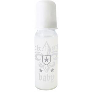 Rock Star Baby Μπιμπερό 250ml Fleur de lis λευκό RSB97075