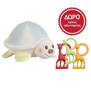 Sophie la girafe Μαργκό, η χελώνα και ΔΩΡΟ κρίκος οδοντοφυίας Φίλοι της Σόφι S300193G