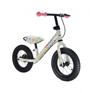 Kiddimoto: Ποδήλατο ισορροπίας SUPER JUNIOR MAX Pastel Dotty SJM4