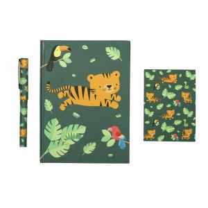 "A little lovely company: Σετ γραφικής ύλης ""Jungle tiger"" STSEJT12"