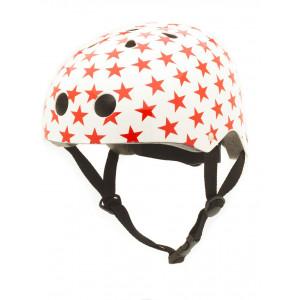 Trybike Κράνος Λευκό / κόκκινο αστέρια TB-COCO4