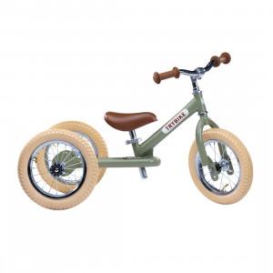 Trybike Τρίκυκλο που μετατρέπεται σε ποδήλατο ισορροπίας Πράσινο Vintage TBS-2-GRN-VIN+TBS-KIT-V