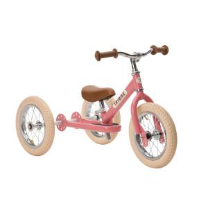 Trybike Τρίκυκλο που μετατρέπεται σε ποδήλατο ισορροπίας Vintage Ροζ TBS-2-PNK-VIN+TBS-KIT-V