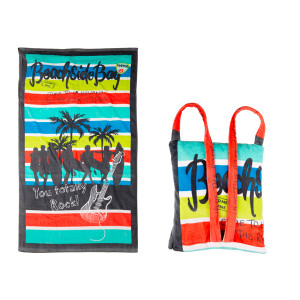 "Tuc Tuc Πετσέτα παραλίας και τσάντα σε 1 ""beachside"" TUC47686"