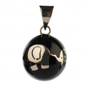 Bola Μενταγιόν εγκυμοσύνης - Μαύρο με ελεφαντάκι VK990