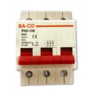 ΡΑΓΟΔΙΑΚΟΠΤΗΣ 3X63A BS PH2-100 BS-3-63