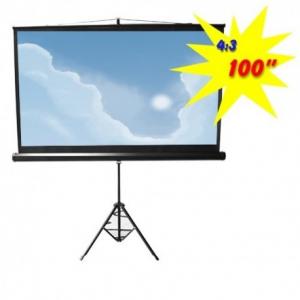 Brateck PSDC100 Οθόνη προβολής με τρίποδο 100'' 4:3 (2.00x1.50m)