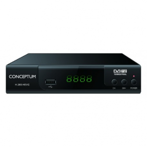 CONCEPTUM Αποκωδικοποιητής TV DVB-T2 H.265 FULL HD
